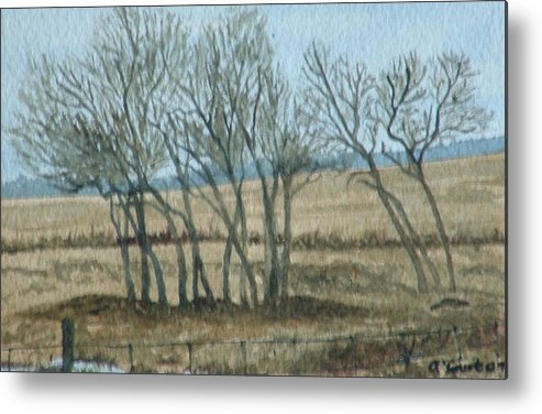Landscape Metal Print featuring the painting Visitors by Lynn ACourt