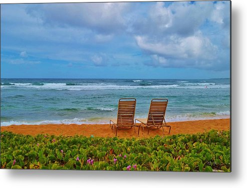 Seascape Metal Print featuring the photograph Waiting For You by Carmen Braun