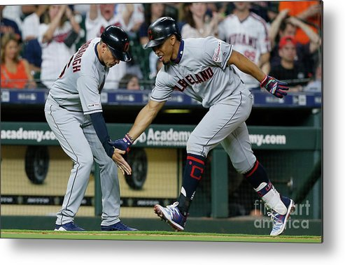 People Metal Print featuring the photograph Cleveland Indians V Houston Astros 1 by Bob Levey