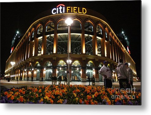 Defeat Metal Print featuring the photograph San Diego Padres V New York Mets by Jim Mcisaac