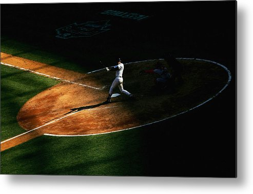People Metal Print featuring the photograph Boston Red Sox V New York Yankees by Ezra Shaw