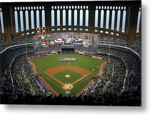 National League Baseball Metal Print featuring the photograph Chicago Cubs V New York Yankees by Ezra Shaw