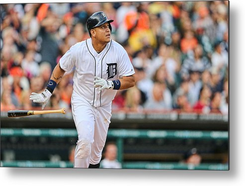 American League Baseball Metal Print featuring the photograph Miguel Cabrera by Leon Halip