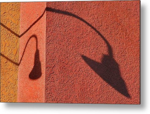 Shadow Metal Print featuring the photograph Two Lamps by Dan Holm