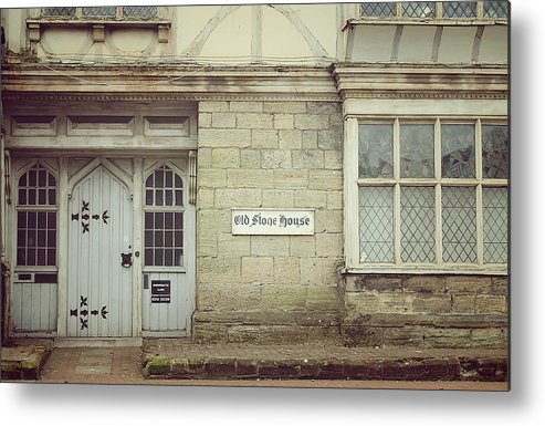 Fine Art Photograph Metal Print featuring the photograph The Old Stone House by Vickie Adams