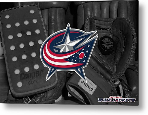 Blue Jackets Metal Print featuring the photograph Columbus Blue Jackets by Joe Hamilton