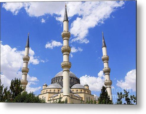 Azadi Metal Print featuring the photograph The Azadi Mosque At Ashgabat In Turkmenistan by Robert Preston