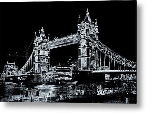 Bridge Metal Print featuring the digital art Tower Bridge Art by David Pyatt