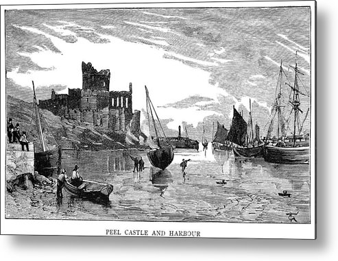 1885 Metal Print featuring the painting Isle Of Man Peel, 1885 by Granger