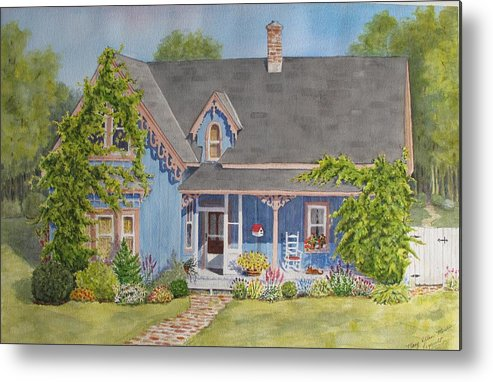Canada Metal Print featuring the painting My Blue Heaven by Mary Ellen Mueller Legault