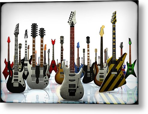 Rock N Roll Metal Print featuring the digital art The G Gathering by Frederico Borges