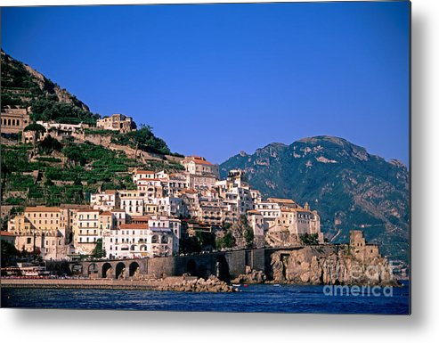 Amalfi Metal Print featuring the photograph Amalfi Town In Italy by George Atsametakis