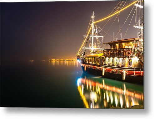 Pirates Metal Print featuring the photograph an Old Pirate Ship by Sotiris Filippou