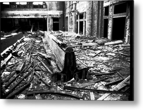 Urban Metal Print featuring the photograph And It All Fell Down by Denis Therien