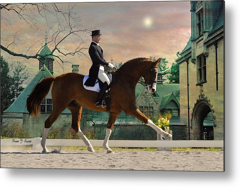 Horses Metal Print featuring the photograph Art Of Dressage by Fran J Scott