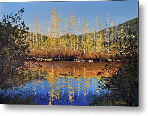 Britton Metal Print featuring the painting Aspen Song by Donald Britton