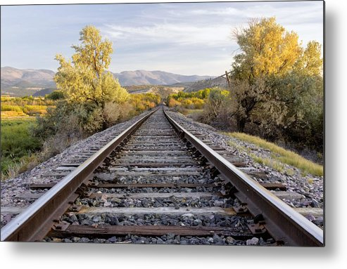Railroads Metal Print featuring the photograph Autumn At The Railroad by Dana Moyer