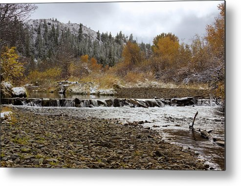 Landscapes Metal Print featuring the photograph Autumn Landscape by Dana Moyer
