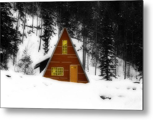 Cascade Mountains Metal Print featuring the photograph Brown Cabin by Isaac Silman