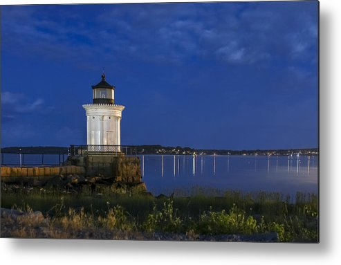 Lighthouses Metal Print featuring the photograph Bug Light At Blue Hour by Shane Borelli