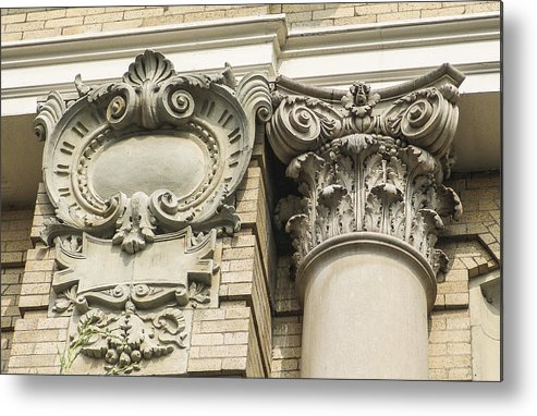 Architectural Metal Print featuring the photograph Building Trim by Eric Swan