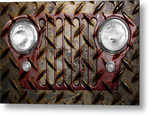 Jeep Metal Print featuring the photograph Civilian Jeep- Maroon by Luke Moore