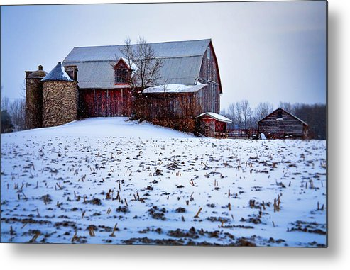 Metal Print featuring the photograph Corn Stubble by Jeff Klingler