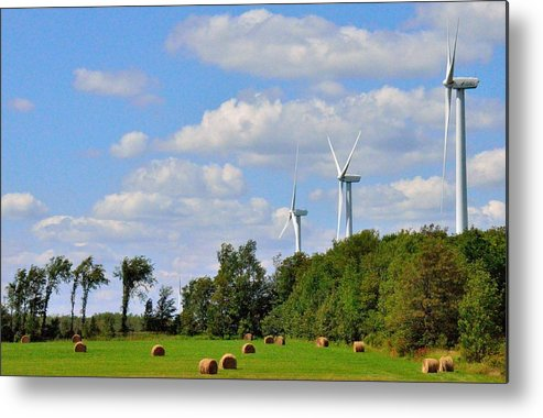 Abstract Metal Print featuring the photograph Country Power by Jeffrey J Nagy