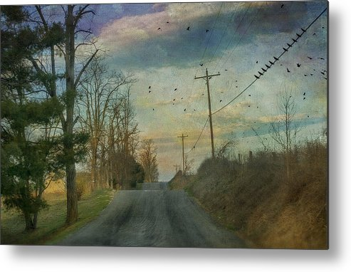 Road Metal Print featuring the photograph Dawn by Kathy Jennings