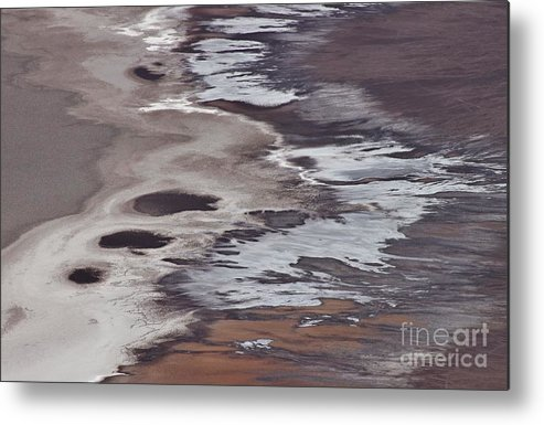 Photo Metal Print featuring the photograph Death Valley Abstract by Bernard MICHEL