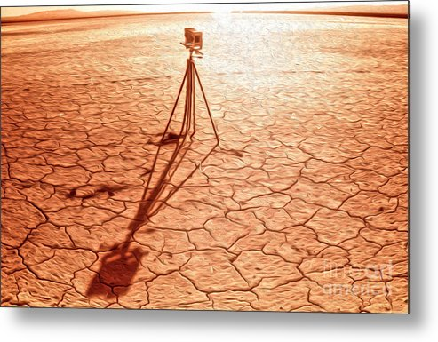 Dry Lake Metal Print featuring the painting Dry Lake Photography by Gregory Dyer