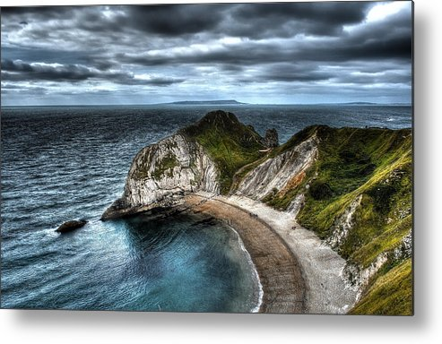 Hdr Durdle Door Uk Metal Print featuring the photograph Durdle Door Hdr by Ernestas Papinigis
