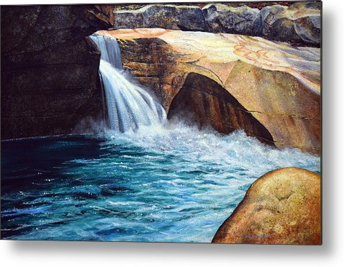 Emerald Pool Metal Print featuring the painting Emerald Pool by Frank Wilson