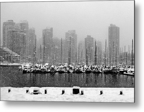 Adam Rozsa Metal Print featuring the photograph False Creek-winter by Adam Rozsa