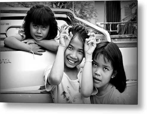 Black And White Metal Print featuring the photograph Friendship by Ian Gledhill