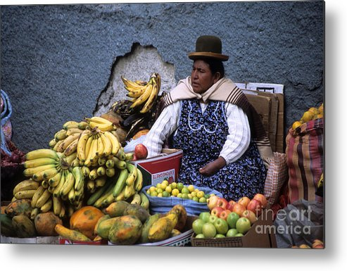 Bolivia Metal Print featuring the photograph Fruit Seller by James Brunker