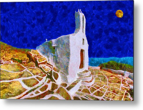 Rossidis Metal Print featuring the painting Greek Church 5 by George Rossidis