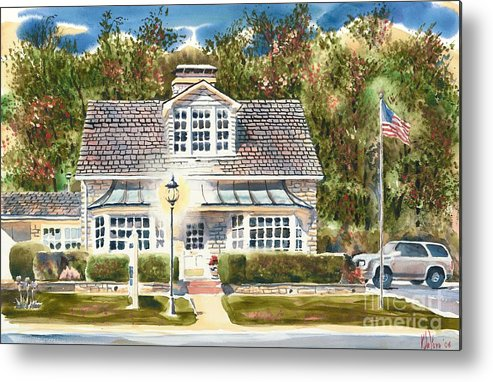 Greystone Inn Ii Metal Print featuring the painting Greystone Inn II by Kip DeVore