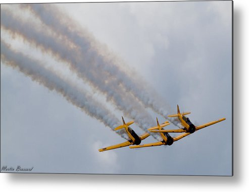 Airshow Metal Print featuring the photograph Harvard Formation by Martin Brassard