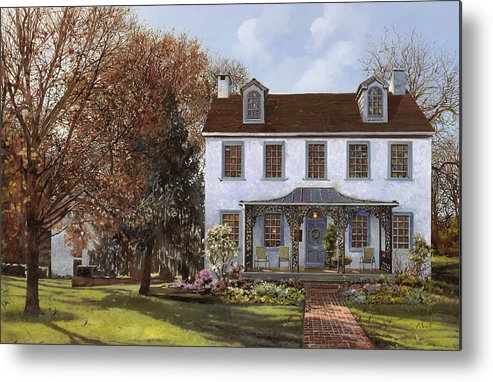 Du Portail Metal Print featuring the painting house Du Portail by Guido Borelli