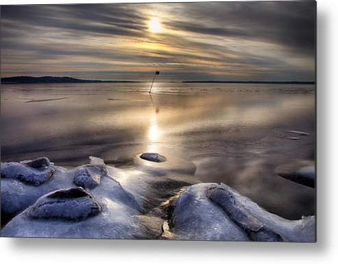 Landscape Metal Print featuring the photograph Ice Flag by Kent Mathiesen