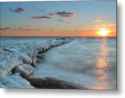 Ice Metal Print featuring the photograph Iced Over by Andrea Galiffi