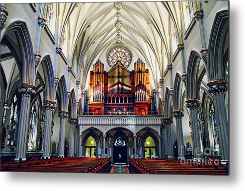 #saint # Metal Print featuring the photograph Inside The Cathedral by Kathleen Struckle