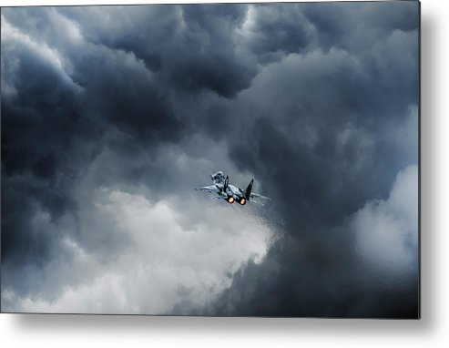 Airshow Metal Print featuring the photograph Into The Inferno by Leon