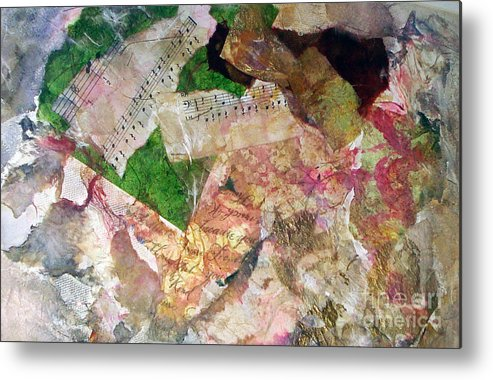 Water Color Collage Metal Print featuring the painting Let The Two Of Us Be One by Yael VanGruber