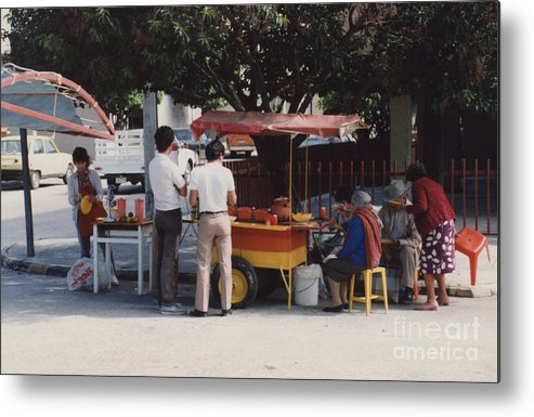 Mexico Metal Print featuring the photograph Lets Do Lunch Mexico Series By Tom Ray by First Star Art