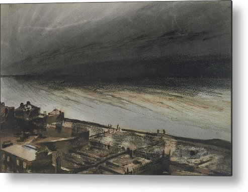 Marine Metal Print featuring the painting Marine Terrace In Jersey by Victor Hugo