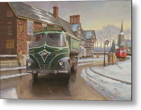Painting For Sale Metal Print featuring the painting Martin C. Cullimore Tipper. by Mike Jeffries