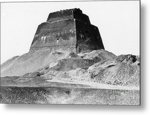 Archeology Metal Print featuring the photograph Meidum Pyramid, 1879 by Science Source