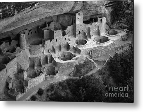 Mesa Verde Metal Print featuring the photograph Mesa Verde Monochrome by Bob Christopher